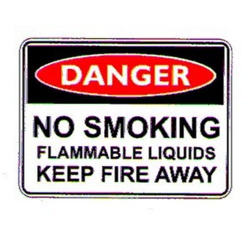 Danger No Smoking Flammable Liq Sign