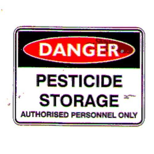 Danger Pesticide Store Sign