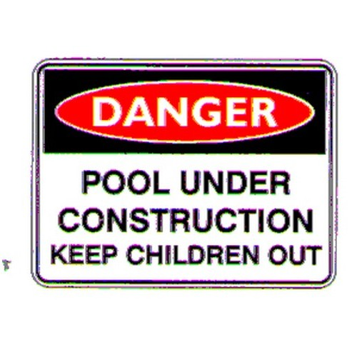 Danger Pool Under Sign