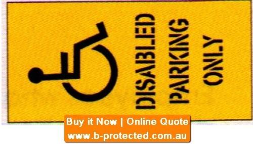 Dis. Park. Only+ Car Park Stencil