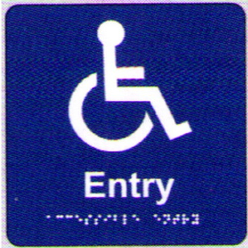 Disabled-Entry-Braille-Sign