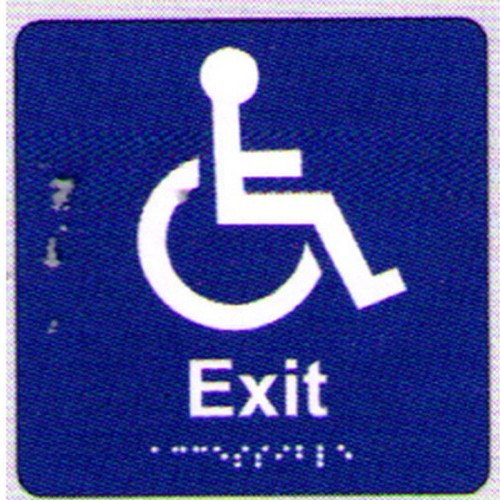 Disabled-Exit-Braille-Sign