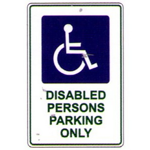 Disabled Per Parking+Sym Sign