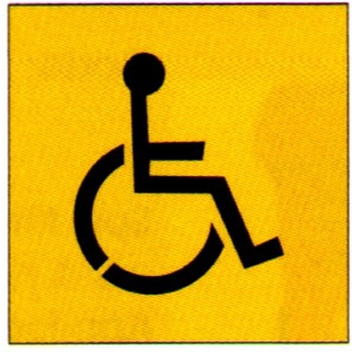 Disabled Symbol Stencil