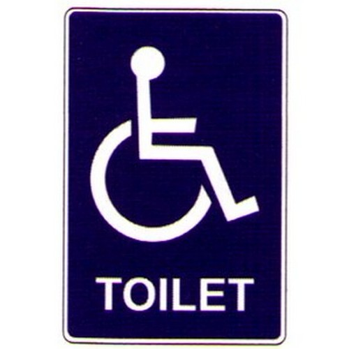 Disabled Symbol Toilet Labels
