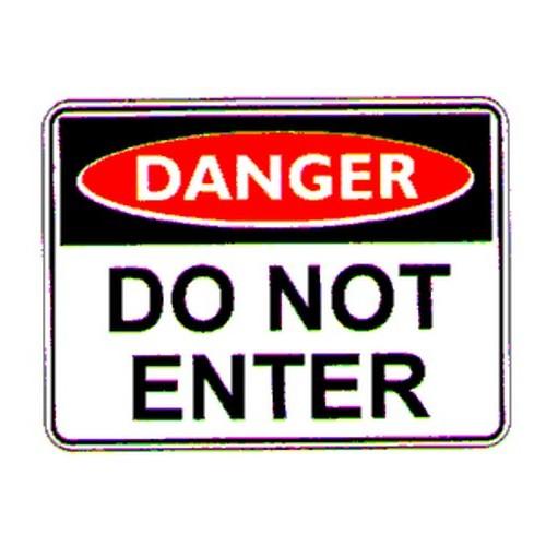 Danger Do Not Enter Sign