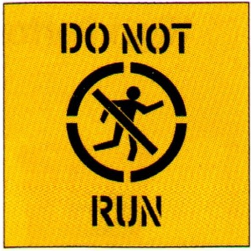 Do Not Run Symbol Stencil