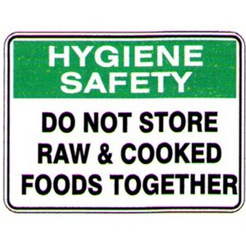 Do Not Store FOOD Together Sign