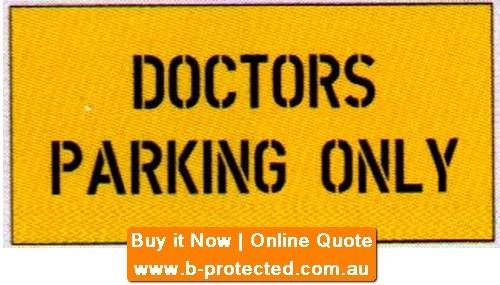 Doctors Park. Only Car Park Stencil
