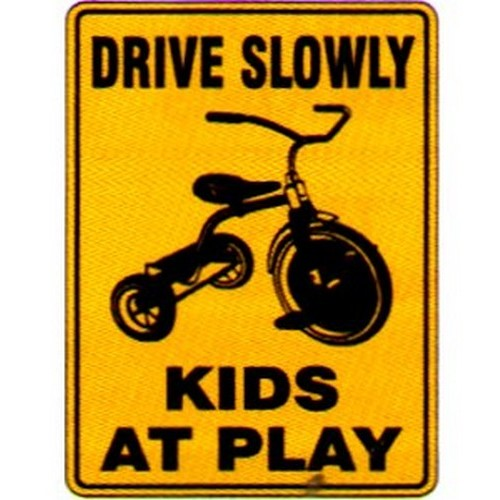 Drive Slowly Kids At Play Sign