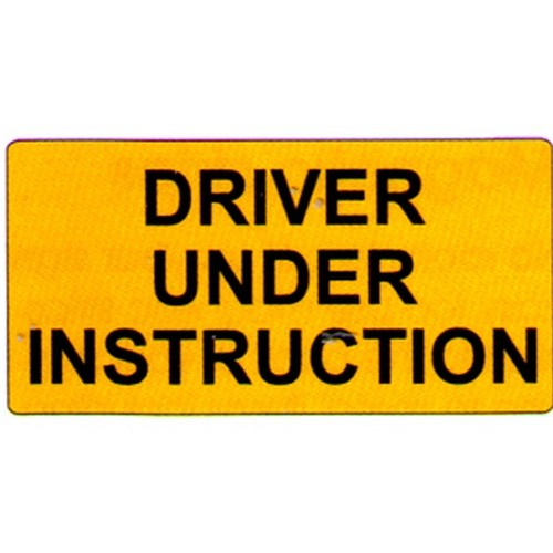 Driver Under Instruction Plates