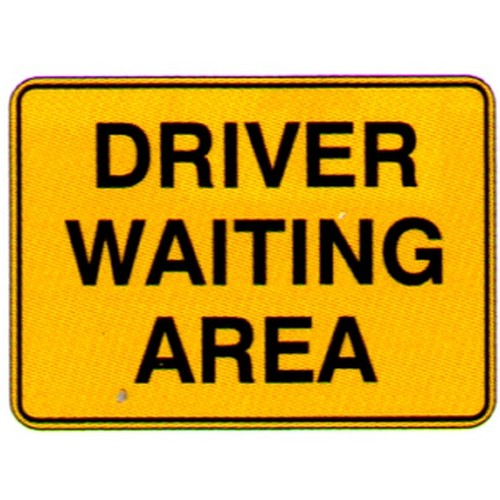 Driver Waiting Area Sign