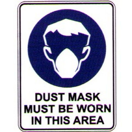 Symbol Dust Mask Must Be Worn Sign
