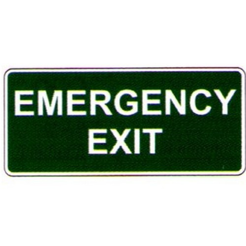 Emergency Exit WGr Sign