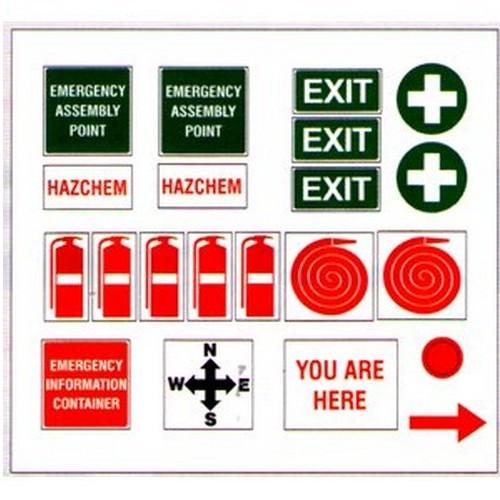 Emergency Plan Stickers