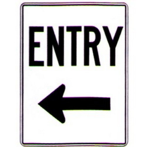 Entry Left Arrow Sign