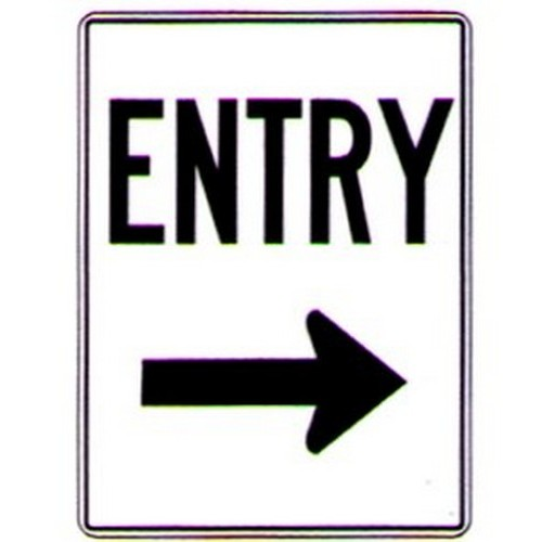 Entry Right Arrow Sign
