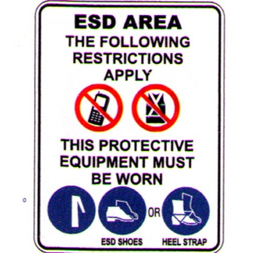 Esd-AreaMust-Be-Worn-Sign