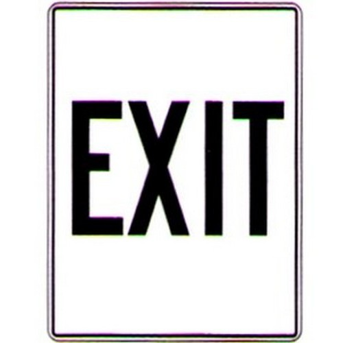 Exit BW Sign