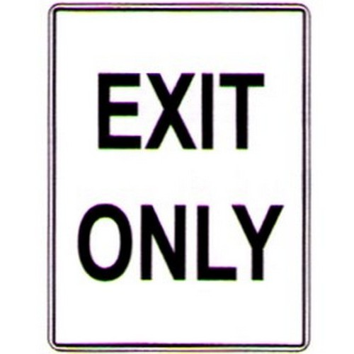 Exit-Only-Sign