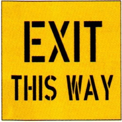 Exit This Way Stencil