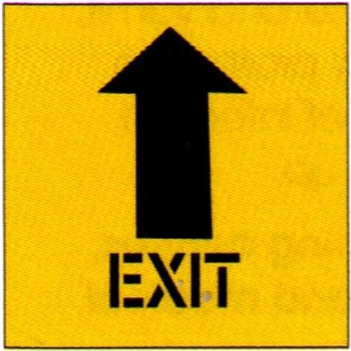 Exit With Up Arrow Stencil