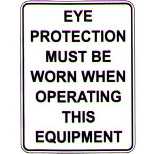 Eye Protection Must Text Sign