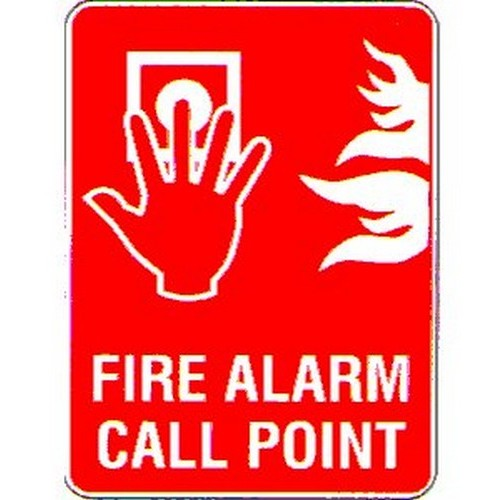 Fire Alarm Call Point Symbol Sign