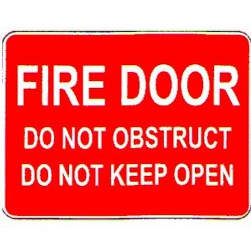 Fire Door Do Not ObsKeep Open Sign