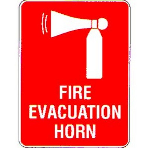 Fire Evacuation Horn Symbol Sign