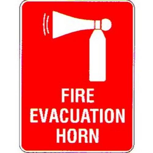 Stick Fire Evac HornSymbol Label