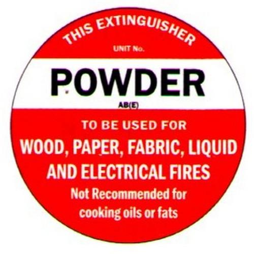 Fire ExtDisc Powder ABE Label