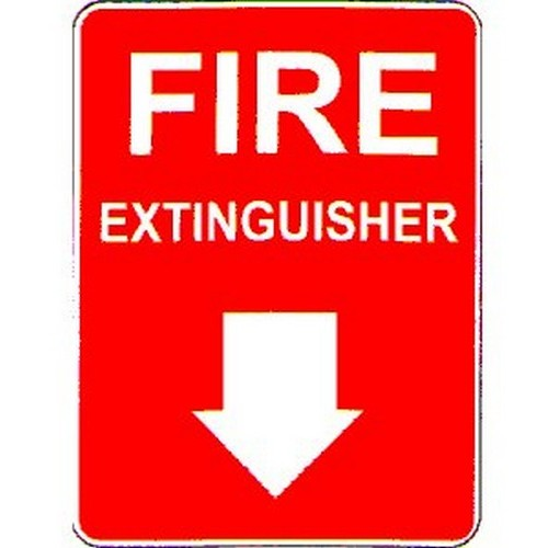 Fire Extinguisher Arrow Sign