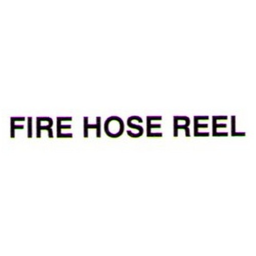 FIRE HOSE REEL Door Label