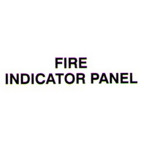 FIRE INDICATOR PANEL Door Label