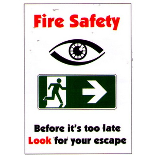 Fire Safety Before Its Poster