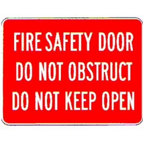 Fire Safety Door Do Not Sign