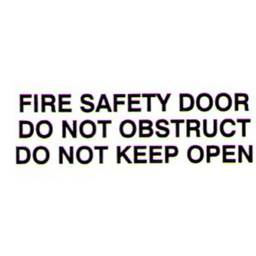 FIRE SAFETY DOOR KEEP Door Label