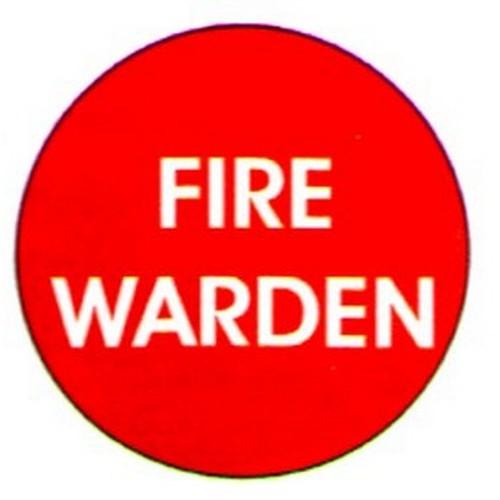 Fire Warden Labels