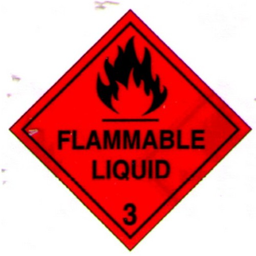 Flammable Liquid Label