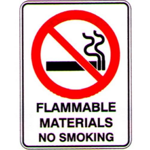 Flammable-MatNo-Smoking-Sign