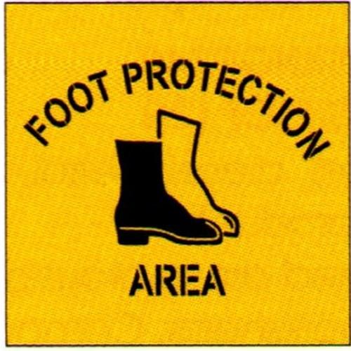 Foot Prot Area Symbol Stencil