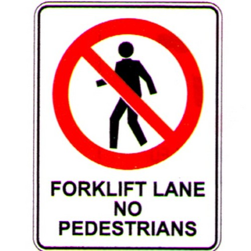 Forklift Lane No Ped Sign