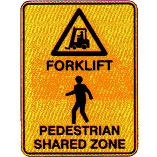 Forklift Pedestrian ZONE Sign