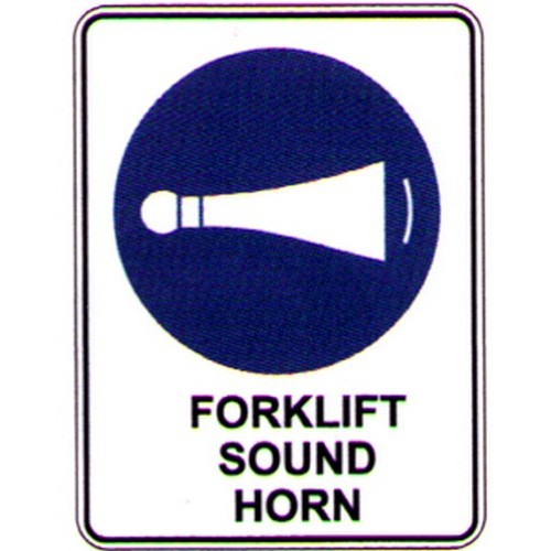 Forklifts Sound Horn Sign