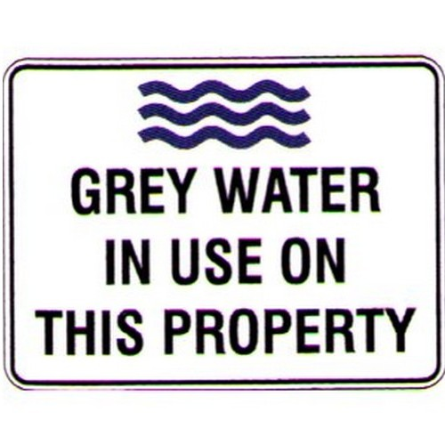Grey Water In Use On This Prop Sign