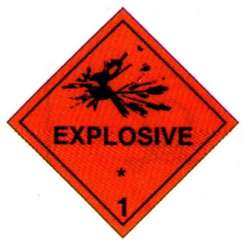 Hazchem 1 Explosive Diamond