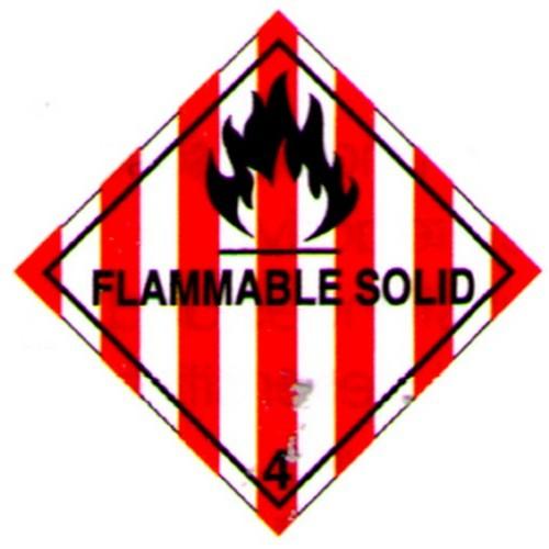 Hazchem 4.1 Flammable Solid Diamond