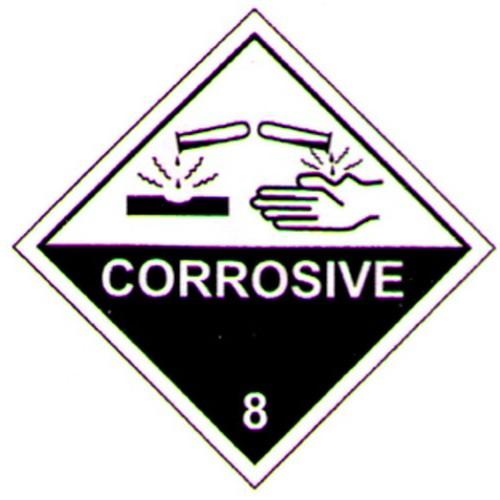 Hazchem 8 Corrosive Sticker