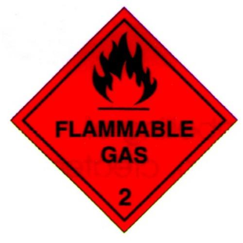 Hazchem Flammable Gas Label